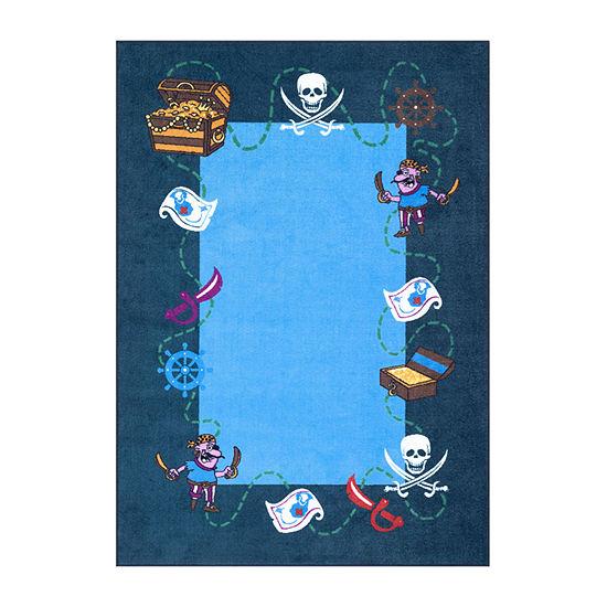 nuLoom Pirate Playtime Rectangular Rug