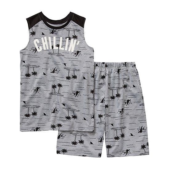 Arizona Little & Big Boys 2-pc. Shorts Pajama Set