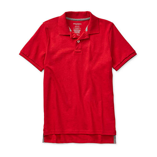 Arizona Little & Big Boys Short Sleeve Polo Shirt