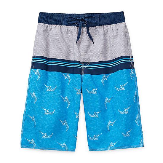 Burnside Go Fish Big Boys Swim Trunks