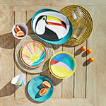 Outdoor Oasis Round Columbia Green Seagrass Placemat