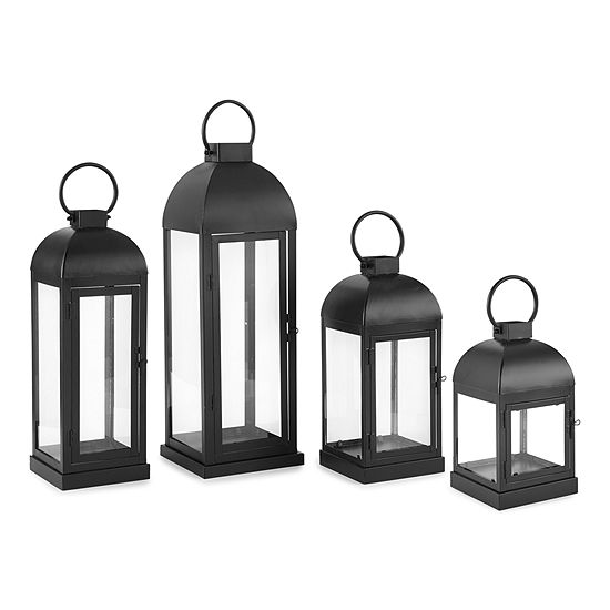 Linden Street Black Metal Decorative Lantern Collection