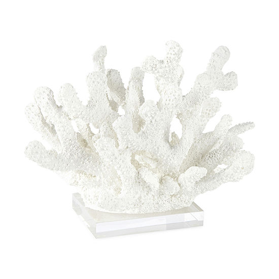 "Liz Claiborne 6.25""H Coastal Coral Tabletop Decor"