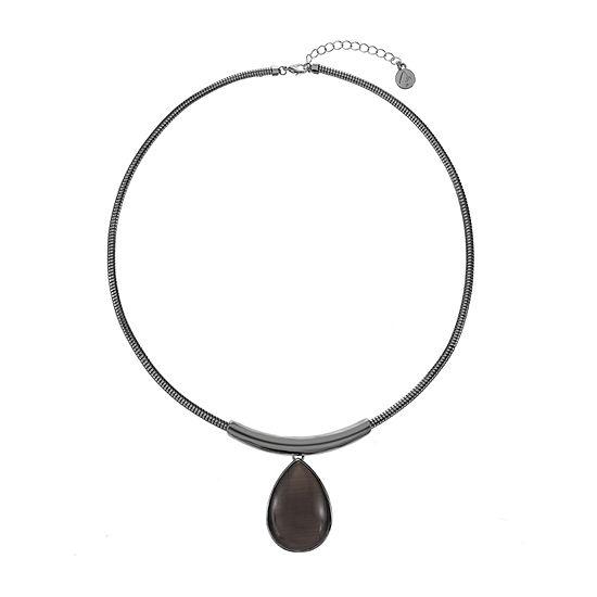 Liz Claiborne 19 Inch Omega Pear Pendant Necklace