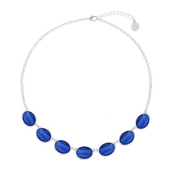 Liz Claiborne 17 Inch Cable Oval Collar Necklace