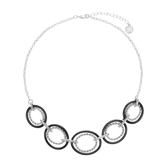Liz Claiborne 17 Inch Rolo Oval Collar Necklace