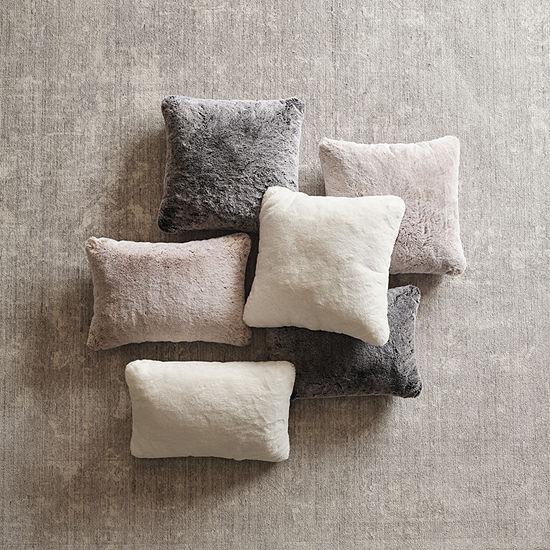 Loom + Forge Tipped Fur Lumbar Pillow