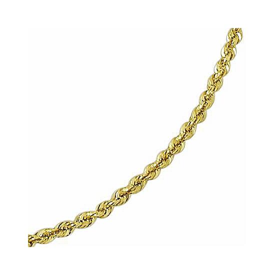 "14K Gold Glitter Rope 20-24"" 3mm Chain"