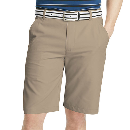 Izod Golf Solid Flat Front Shorts