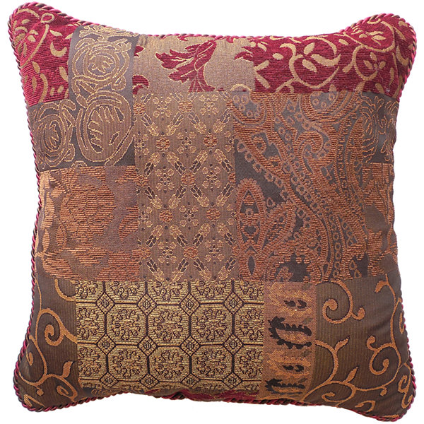 Jcpenney Red Decorative Pillows : Croscill Classics Catalina Red Square Decorative Pillow JCPenney