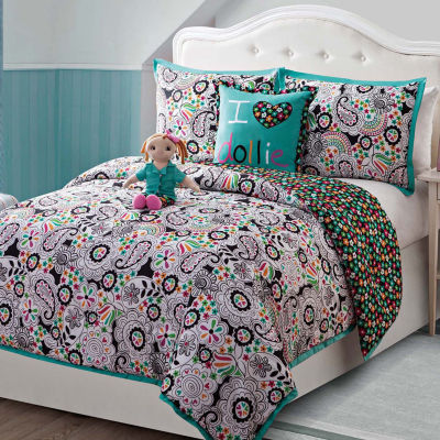 Dollie & Me Zoe Reversible Paisley Comforter Set with Doll