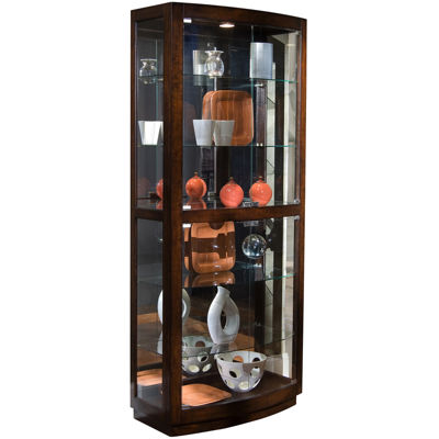 "Brookfield 34"" Curved Curio Cabinet"