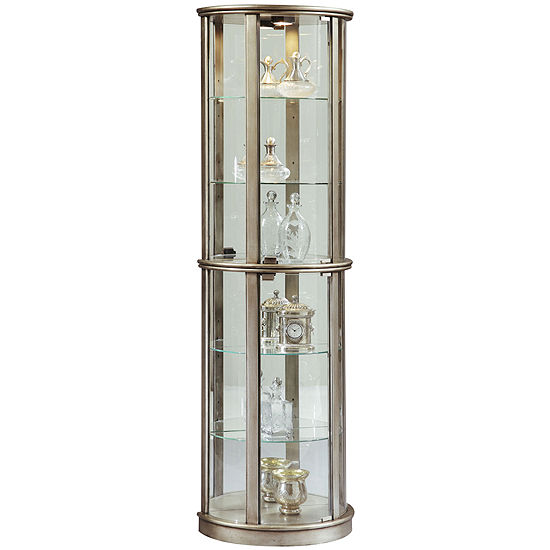 """Paxton 22"""" Curved Curio Cabinet"""