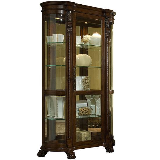"Richmond 53"" Curved Curio Cabinet"