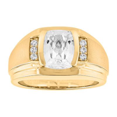 Mens Lab Created Sapphire Fashion Ring