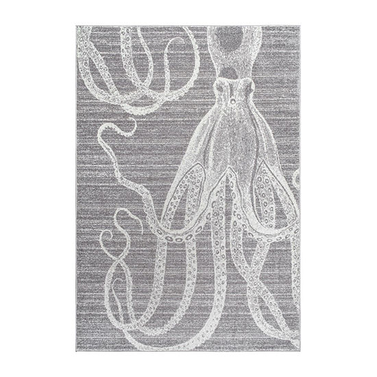 nuLoom Thomas Paul Power Loomed Octopus Rectangular Rug