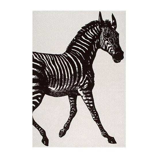 nuLoom Thomas Paul Power Loomed Zebra Rectangular Rug