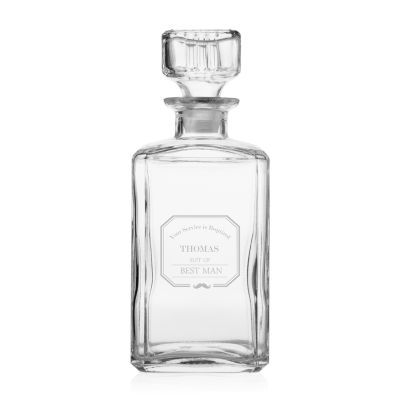 Cathy's Concepts Personalized Mustache Best Man Decanter