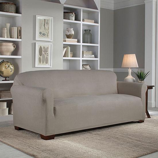 Serta Reversible Microsuede Stretch Fit Sofa Slipcover