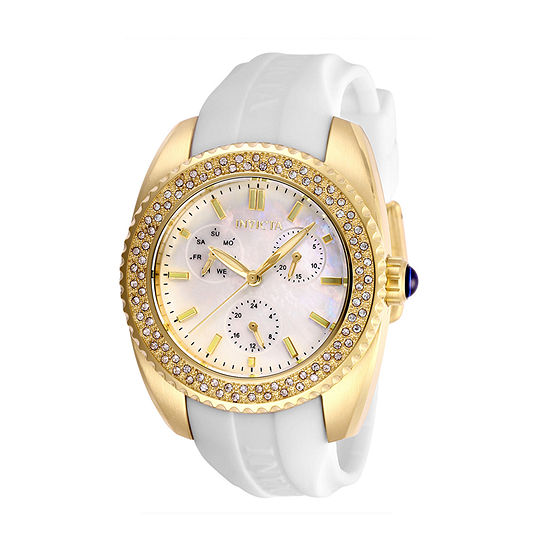 Invicta Angel Womens White Strap Watch-28488