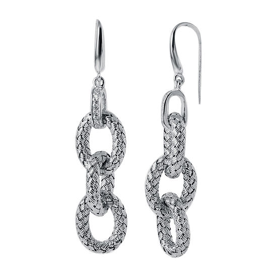 Paris 1901 By Charles Garnier 1/3 CT. T.W. White Cubic Zirconia Sterling Silver Round Drop Earrings