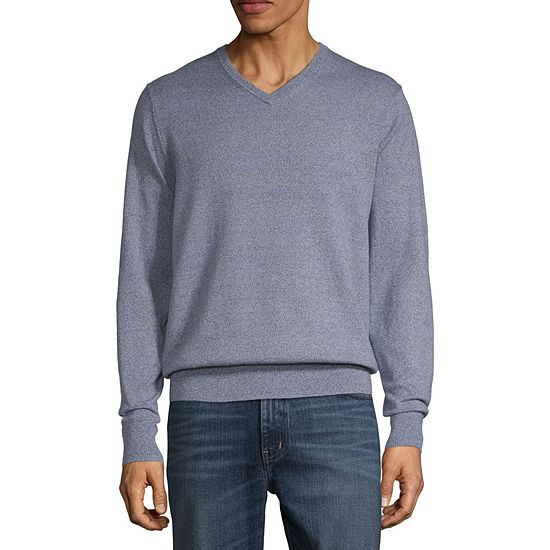 St. John's Bay V Neck Long Sleeve Pullover Sweater