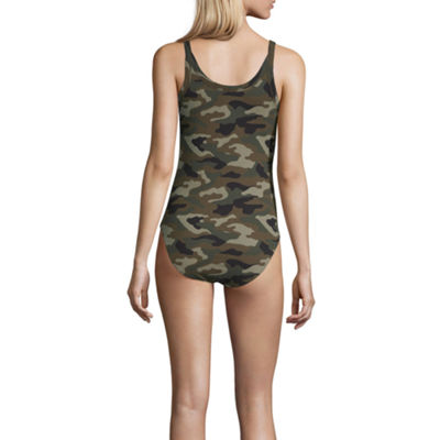 Arizona Womens Round Neck Sleeveless Bodysuit-Juniors