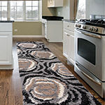World Rug Gallery Cozy Shag Floral Rectangular Indoor Rugs
