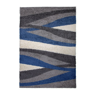 World Rug Gallery Cozy Shag Waves Rectangular Indoor Rugs