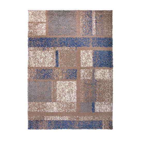 World Rug Gallery Shag Contemporary Geometric Boxes Rectangular Indoor Rugs