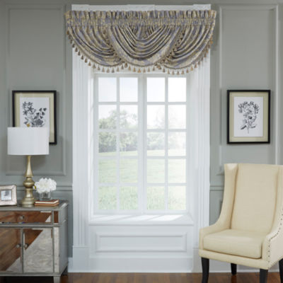 Croscill Classics Nadia Rod-Pocket Waterfall Valance