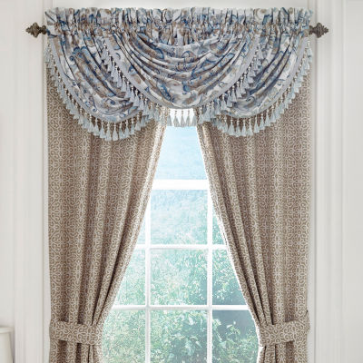 Croscill Classics Emery Waterfall Rod-Pocket Valance