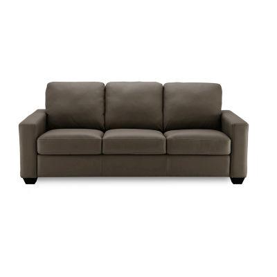 Leather Possibilities Track Arm Sleeper Sofa