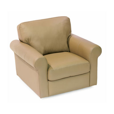 Leather Possibilities Roll Arm Swivel Chair