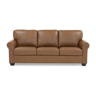 Leather Possibilities Roll Arm Queen Sleeper Sofa
