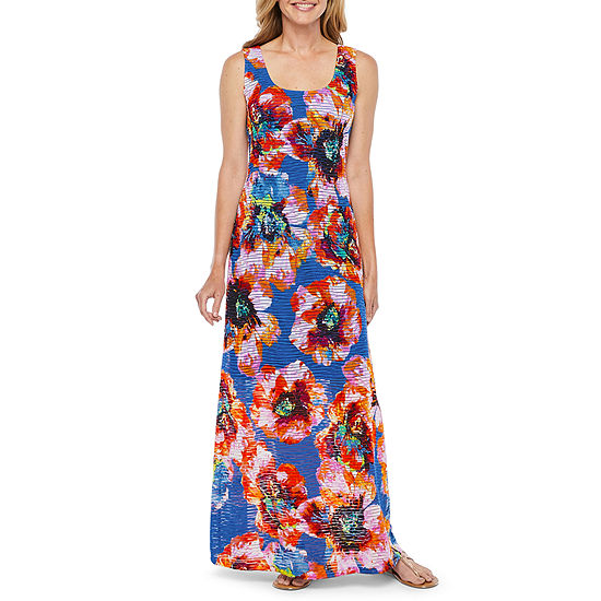 Ronni Nicole Sleeveless Floral Maxi Dress