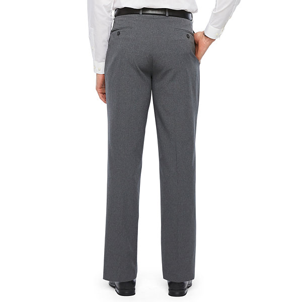 Van Heusen Air Charcoal Grid Slim Fit Suit Pants