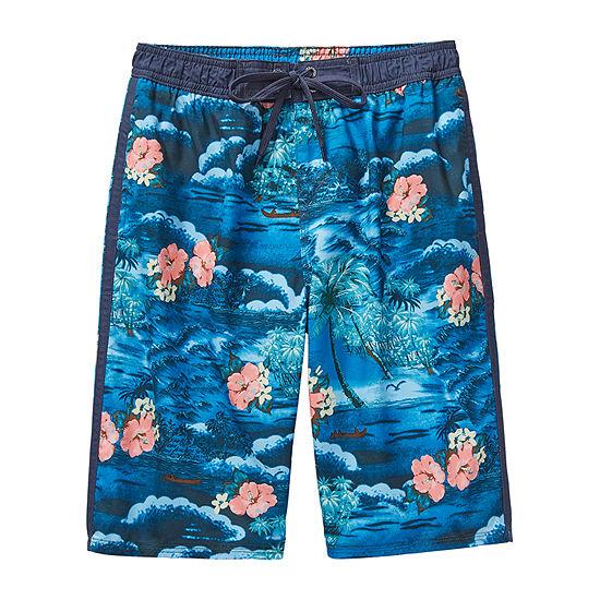 Burnside Paradise Big Boys Swim Trunks