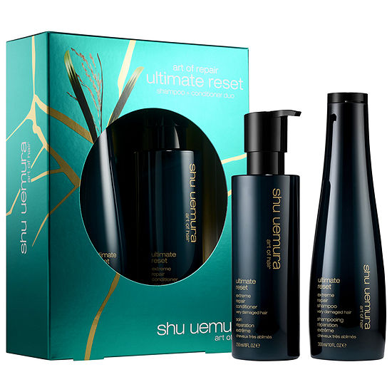 shu uemura Ultimate Reset Strengthening Shampoo and Conditioner Set for Damaged Hair