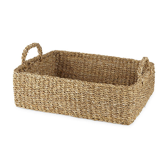 Linden Street 16X6 Natural Decorative Basket