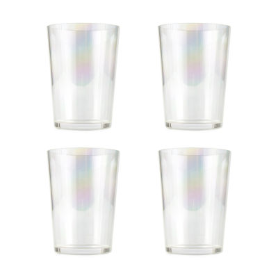 Outdoor Oasis 4-pc. Iridescent Double Old Fashioned Glass