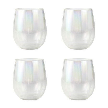 Outdoor Oasis 4-pc. Iridescent Stemless Wine Glass, One Size , Iridescent