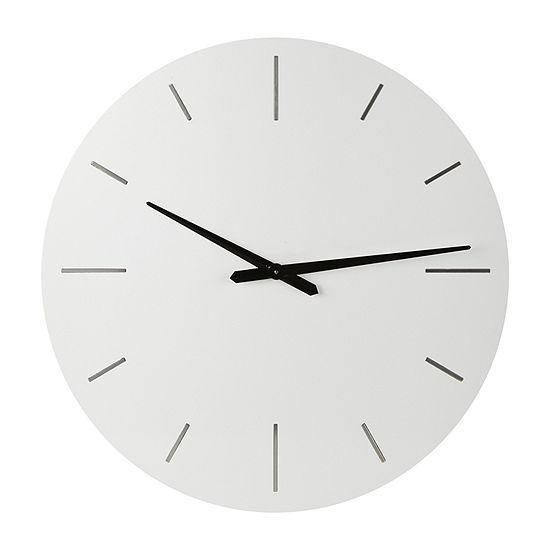 """Loom + Forge Modern White 30"""" Wall Clock"""