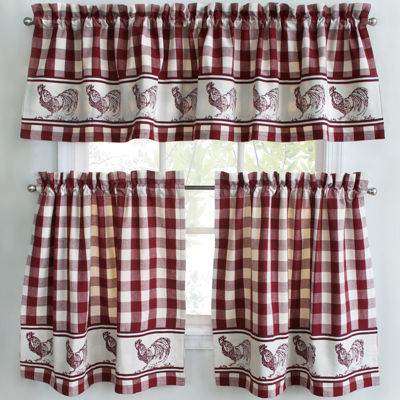 Superior Park B Smith Provencial Rooster Kitchen Curtains