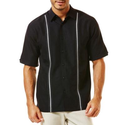 The Havanera Co.® Short-Sleeve Pickstitch Panel Shirt