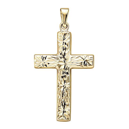 14K Yellow Gold Reversible Cross Charm