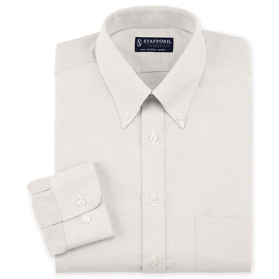 e81e7b71e0 Stafford Travel Wrinkle Free Oxford Dress Shirt JCPenney