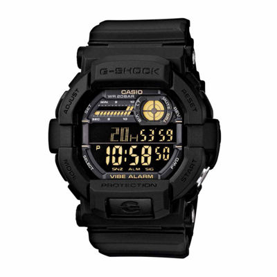 Casio Mens Black Strap Watch-Gd350-1