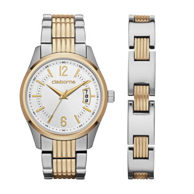 Liz Claiborne Mens Two Tone 2-pack Watch Boxed Set-Clm9009