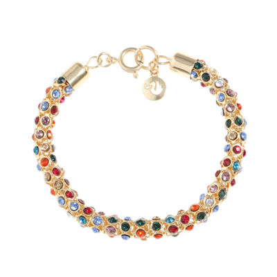 Gloria Vanderbilt Womens 7 1/2 Inch Multi Color Chain Bracelet